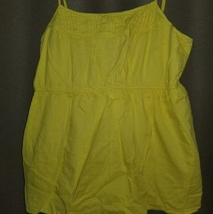 Old navy XXL rouched lined yellow strappy cami